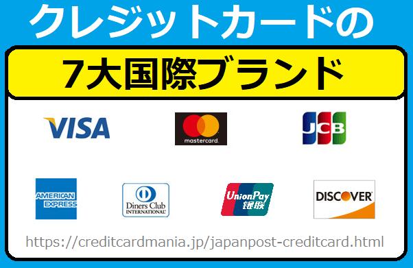 クレジットカードの7大国際ブランド