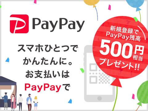 PayPayに登録するだけで500円分の電子マネーをプレゼント