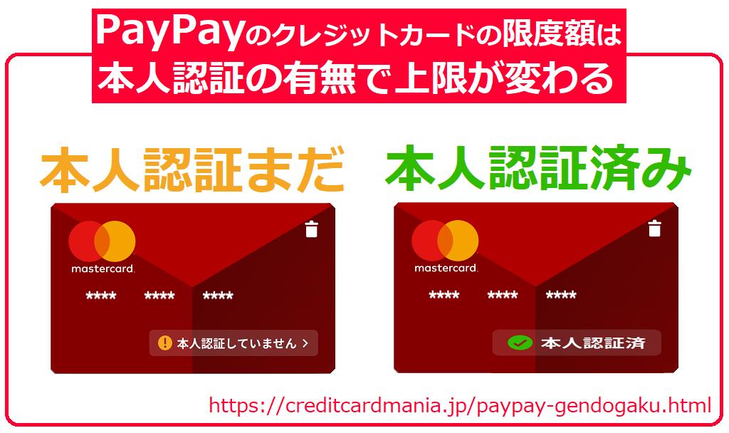 PayPayの限度額は本人認証(3Dセキュア)の有無で上限が変わる